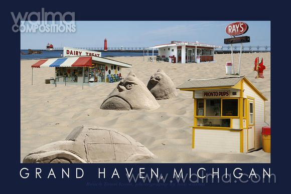 Icons at the Beach, Grand Haven Poster