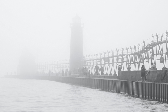 Pier Through the Fog