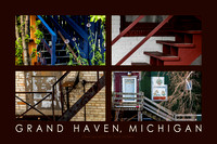 Stairs Behind The Scenes, Grand Haven Poster