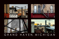 Downtown Backsides, Grand Haven Poster